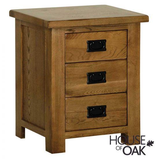 Farmhouse Oak 3 Drawer Bedside