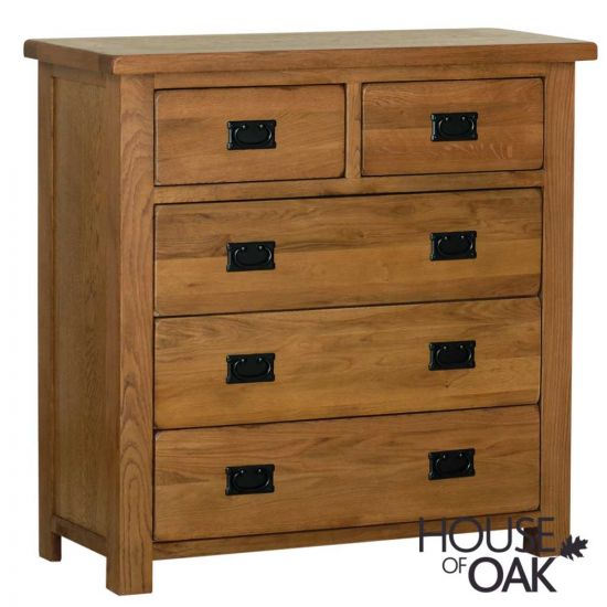 Farmhouse Oak 3+2 Chest of Drawers