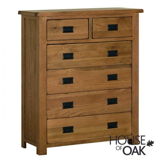 Farmhouse Oak 4+2 Chest of Drawers