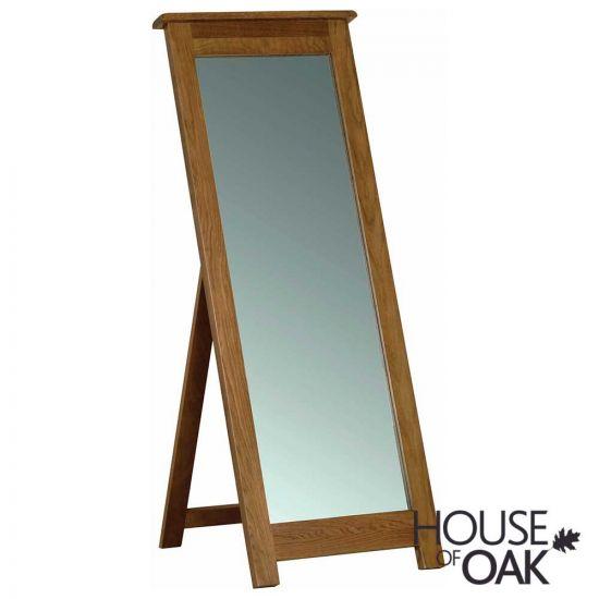 Farmhouse Oak Cheval Mirror