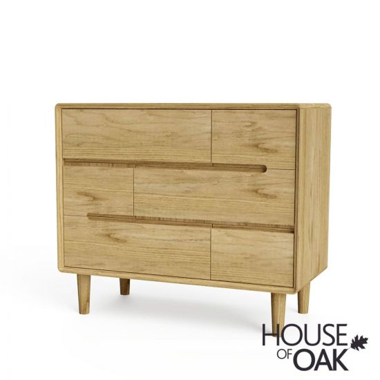 Scandic Oak 3+3 Chest of Drawers