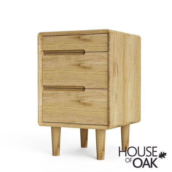Scandic Oak Bedside Cabinet