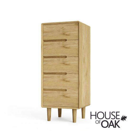 Scandic Oak 5 Drawer Chest