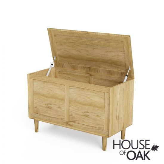 Scandic Oak Blanket Box