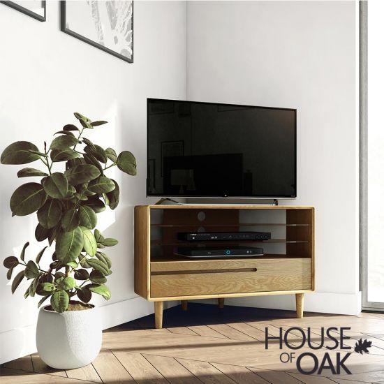 Scandic Oak Corner TV Unit
