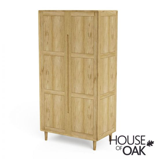 Scandic Oak Double Wardrobe with Configurable Layout