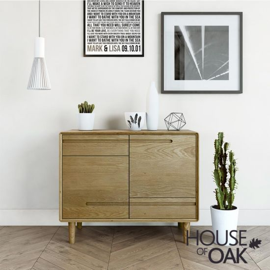 Scandic Oak Small Sideboard