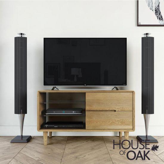 Scandic Oak Small TV Unit