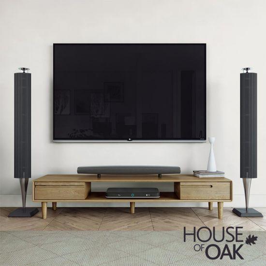 Scandic Oak Wide TV Unit