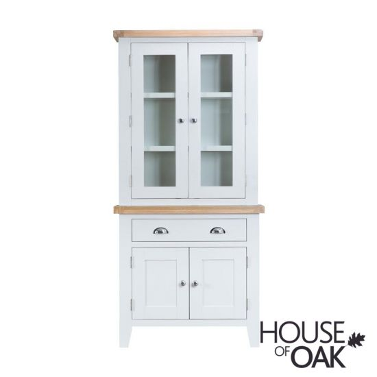 Florence Oak Small Dresser with Lights - White Painted