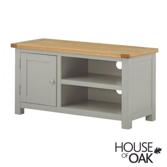 Portman Painted Small TV Cabinet in Stone Grey