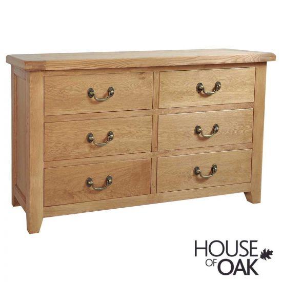 Canterbury Oak 6 Drawer Wide Chest