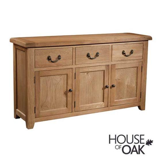 Canterbury Oak 3 Door 3 Drawer Sideboard