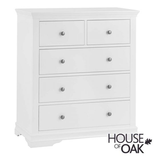 Chantilly White 2 Over 3 Drawer Chest