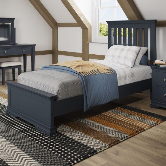 Chantilly Midnight Grey 3FT Single Bed