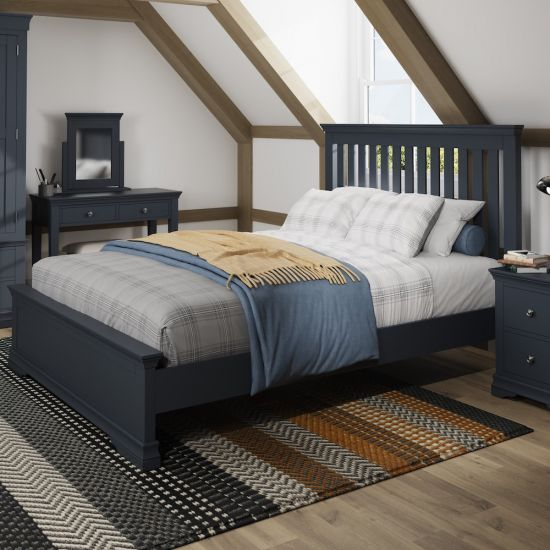 Chantilly Midnight Grey 5FT King Size Bed