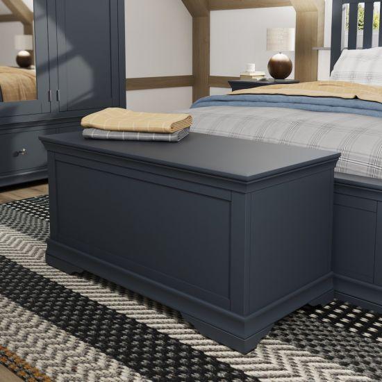 Chantilly Midnight Grey Blanket Box