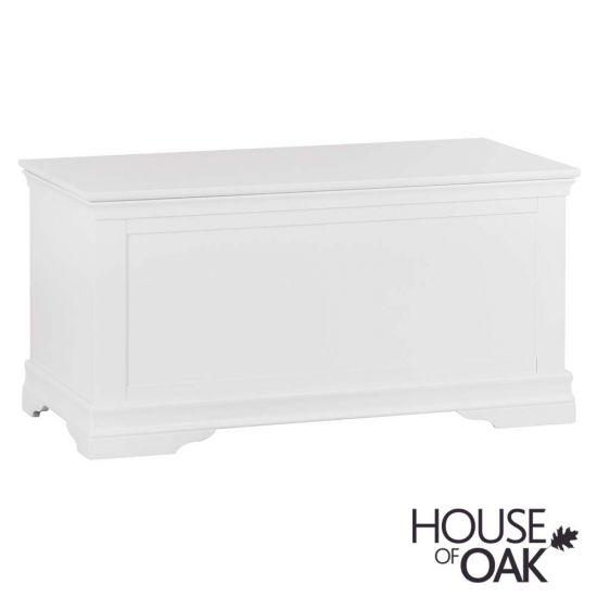 Chantilly White Blanket Box