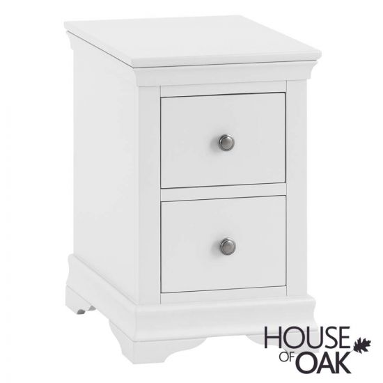Chantilly White Bedside Cabinet