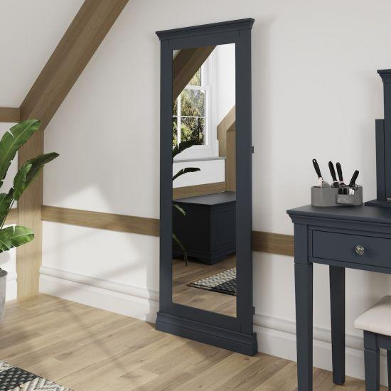 Chantilly Midnight Grey Cheval Mirror