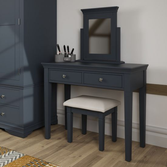Chantilly Midnight Grey Dressing Table