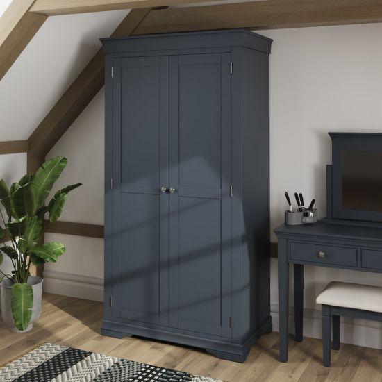 Chantilly Midnight Grey 2 Door Wardrobe