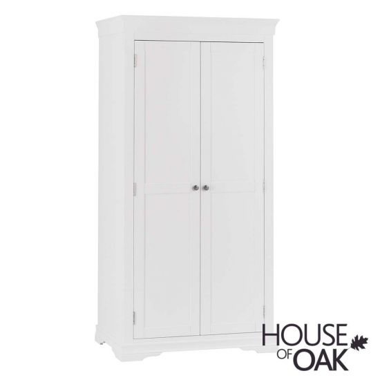 Chantilly White 2 Door Wardrobe
