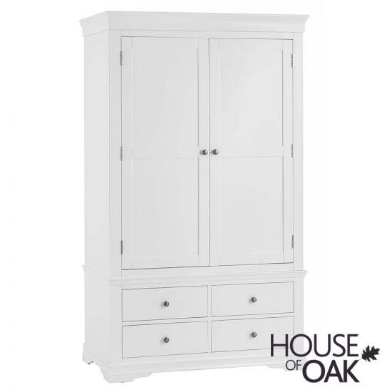 Chantilly White 2 Door 4 Drawer Wardrobe