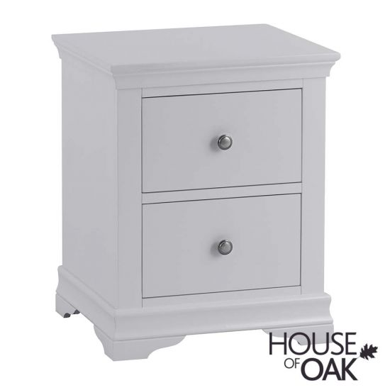 Chantilly Grey Large Bedside Cabinet
