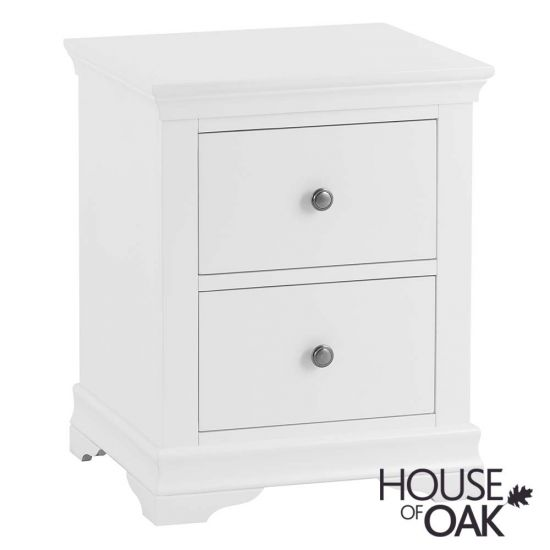 Chantilly White Large Bedside Cabinet