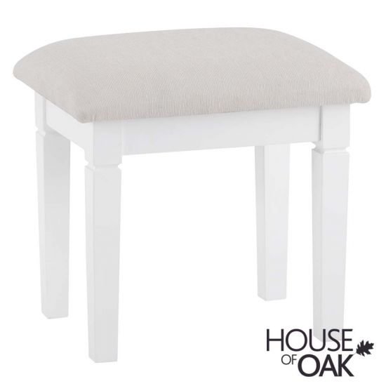 Chantilly White Bedroom Stool