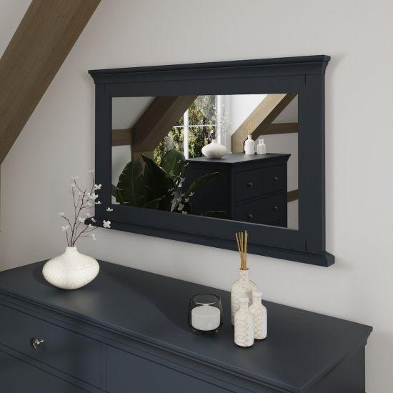 Chantilly Midnight Grey Wall Mirror