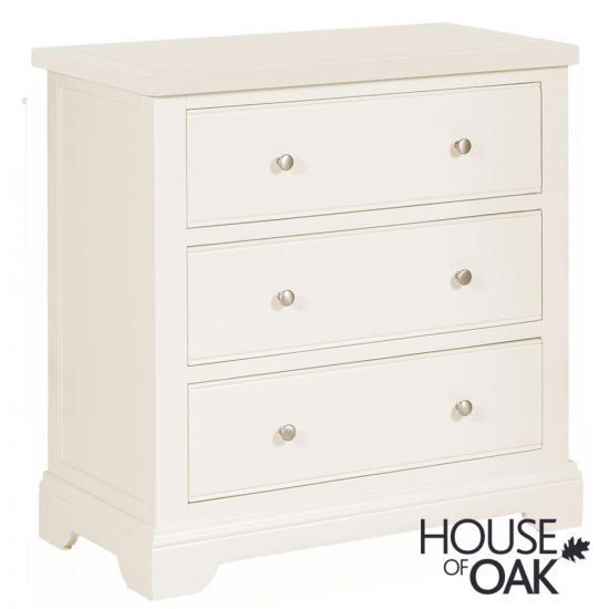 Symphony White 3 Drawer Chest of Drawers