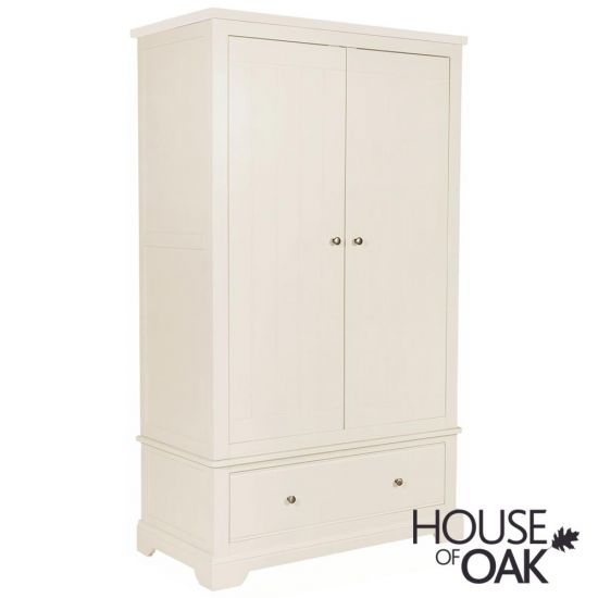 Symphony White Double Wardrobe with Drawer