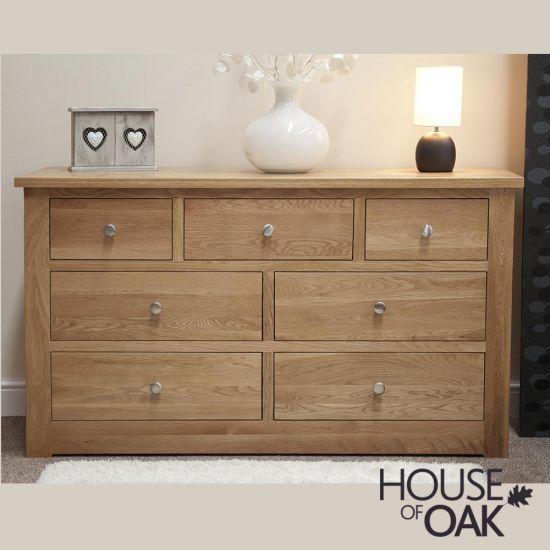 Torino Solid Oak 7 Drawer Chest
