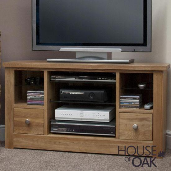 Torino Solid Oak Corner TV Cabinet