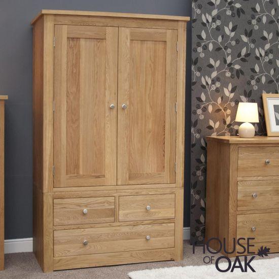 Torino Solid Oak Gents Wardrobe