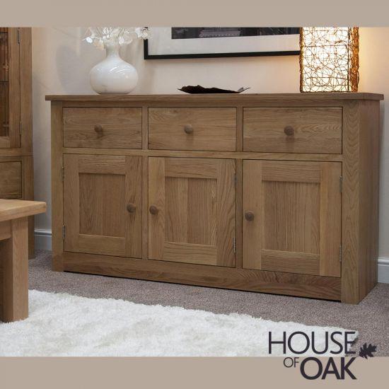 Torino Solid Oak Large Sideboard