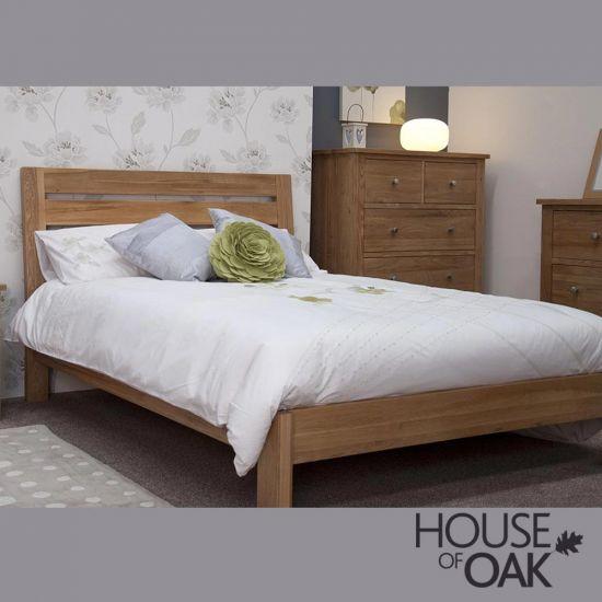"Opus Solid Oak Slatted 4FT 6"" Double Bed"