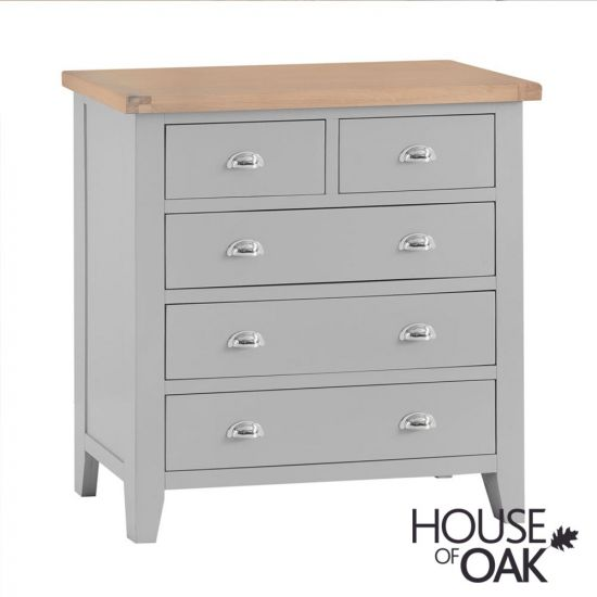 Florence Oak 2 Over 3 Chest - Grey Painted