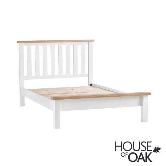 """Florence Oak 4FT 6"""" Double Bed - White Painted"""