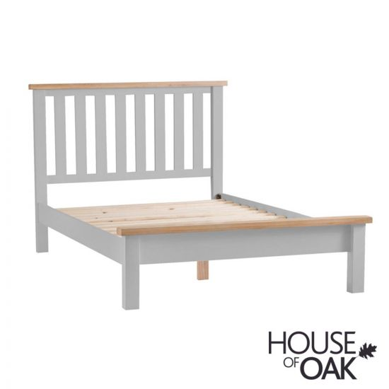 Florence Oak 5FT King Size Bed  - Grey Painted