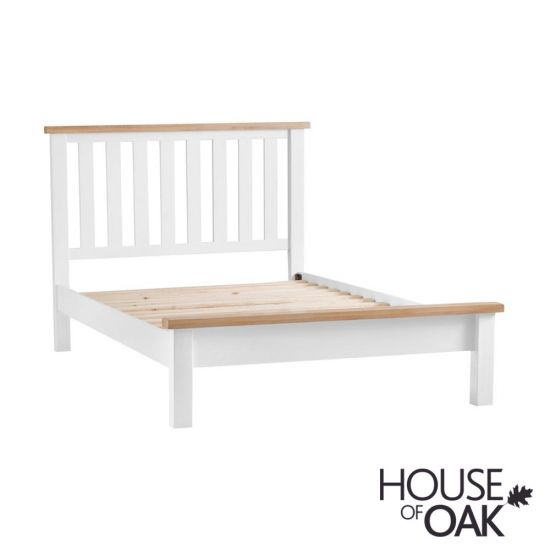 Florence Oak 5FT King Size Bed - White Painted