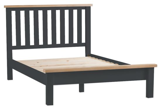 Florence Oak 6FT Super King Size Bed - Charcoal Painted
