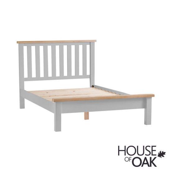 Florence Oak 6FT Super King Size Bed - Grey Painted