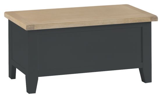 Florence Oak Blanket Box - Charcoal Painted