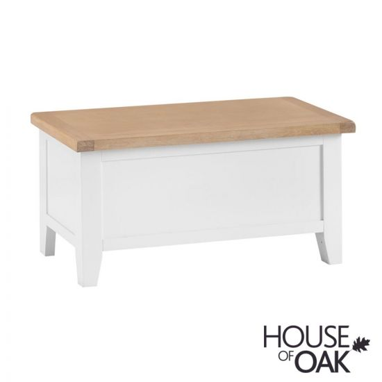 Florence Oak Blanket Box - White Painted
