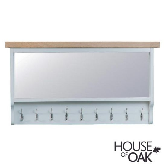 Florence Oak Large Hall Bench Top - Grey Painted