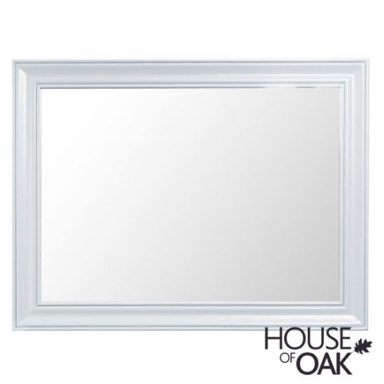 Florence Oak Large Wall Mirror - White Painted