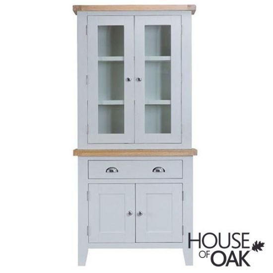 Florence Oak Small Dresser with Lights - Grey Painted